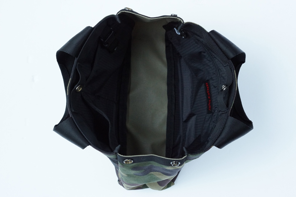 B SERIES CART TOTE GREEN CAMO 3