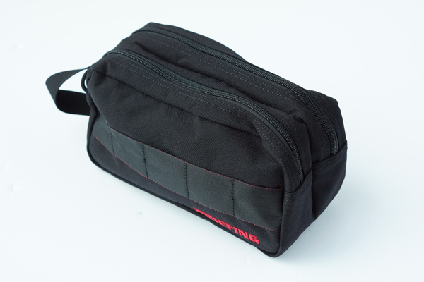 DOUBLE ZIP POUCH-3 GOLF BLACK 1
