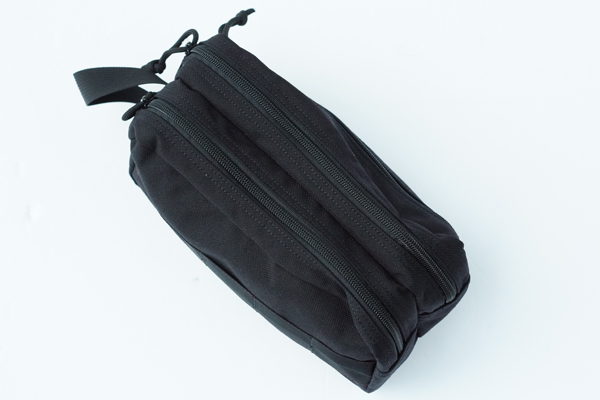 DOUBLE ZIP POUCH-3 GOLF BLACK 2