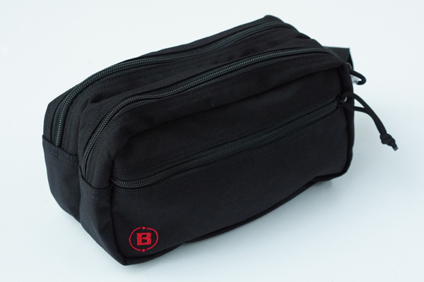 DOUBLE ZIP POUCH-3 GOLF BLACK 3