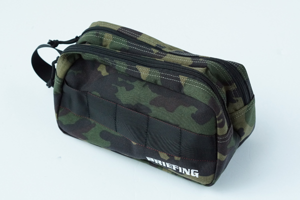 DOUBLE ZIP POUCH-3 GOLF GREEN CAMO 1