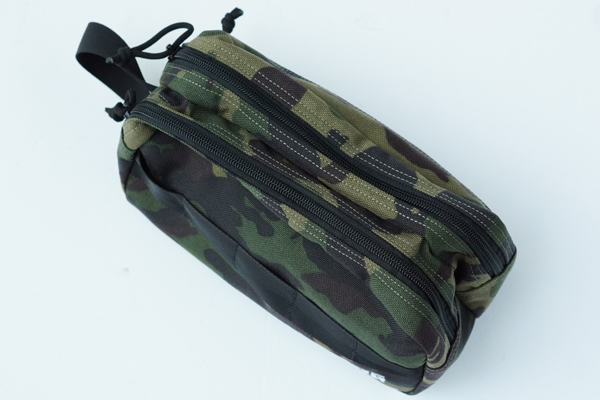 DOUBLE ZIP POUCH-3 GOLF GREEN CAMO 2
