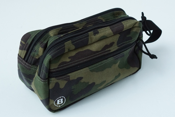 DOUBLE ZIP POUCH-3 GOLF GREEN CAMO 3